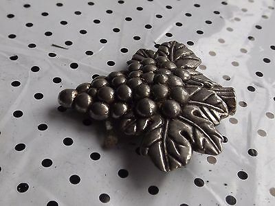 Vintage Silver tone Beautiful Bunch of Grapes Miniature
