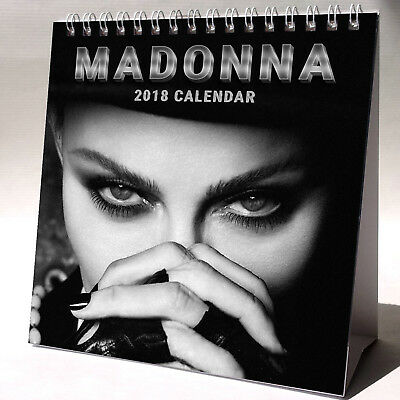 Madonna Desktop Calendar 2018 NEW + FREE GIFT 3 Stickers Girl Gone Wild