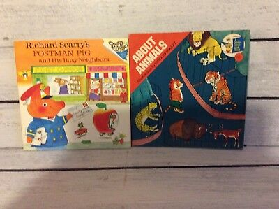 Richard Scarry's Postman Pig & His Busy Neighbours, HTF About Animals Vintage