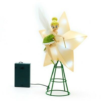 Disney Tinker Bell Light Up Christmas Tree Topper Ornament Decoration Fairy