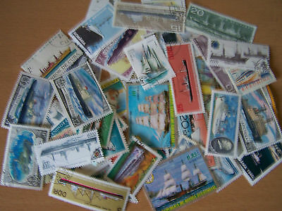200 Different Ships/boats,thematic Stamps.