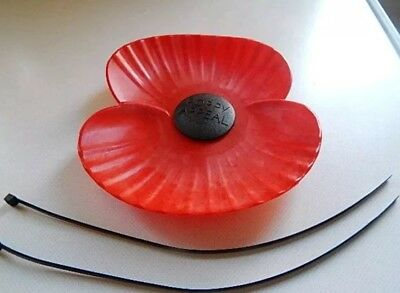 Poppy Car Badge complete with ties - Brand new stock