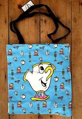 Brand New Primark Disney Beauty and the Beast Chip Cup Canvas Tote Shopping Bag