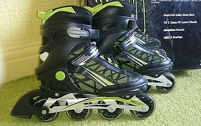 No fear roller fitness skates size 8
