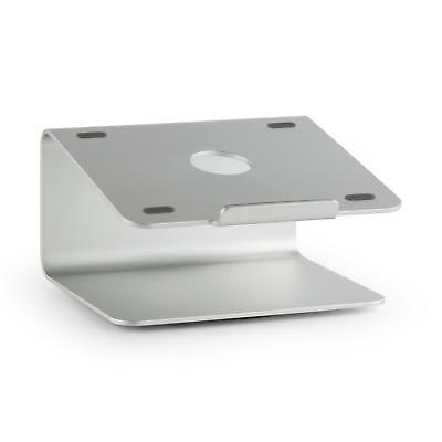 Auna Laptop Stand Mount Holder Support Rotating 360° Silver Sillicone Pads