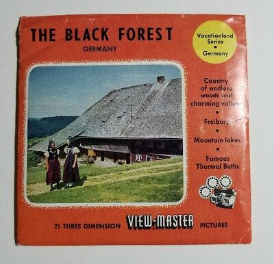 Very Rare View-Master THE BLACK FOREST GERMANY 1521 A,B,C - 3 Reel Set