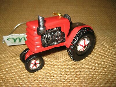 Red Farm Tractor Christmas Tree Ornament Midwest CBK