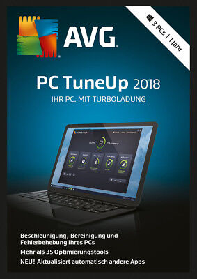 AVG PC TuneUp 2018 3 PC / 1 Jahr Vollversion TuneUp Utilities Key ESD Download