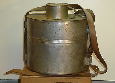 Colorado-Style Miners Railroad Lunch Pail Dinner Bucket Leather Handle 4 Pcs