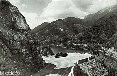 1958 Soviet postcard with photo of the road near the Lake Ritsa (Caucasus)