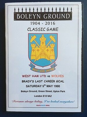 West Ham United LIAM BRADY'S FINAL GAME at the BOLEYN vs Wolves DVD Full Game
