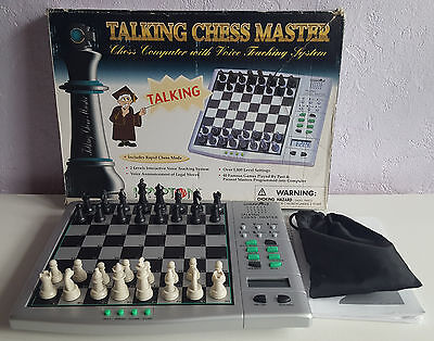 Talking Chess Master, Electronic Chess, Krypton, Boxed With Instructions.