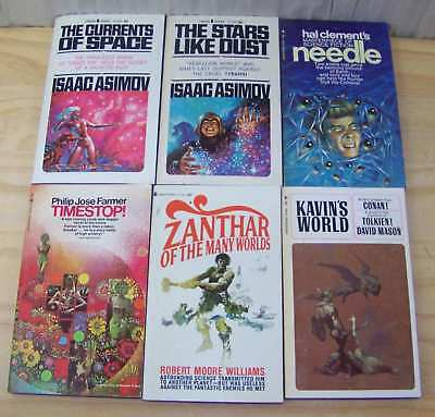 Lot of 6 Vintage Science Fiction Paperbacks 1960's  - Nice Collection!