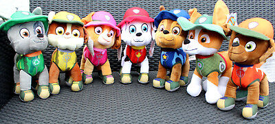 PAW PATROL Jungle Rescue  27 cm  Chase , Zuma , Rubble , Marshall , Skya , Rocky