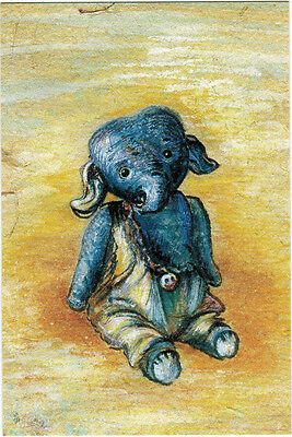 LITTLE BLUE ELEPHANT TOY Modern Russian postcard