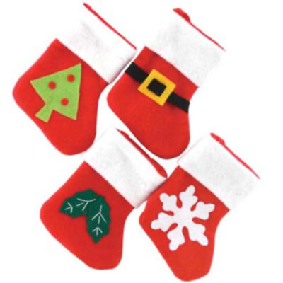 Set Of Four Baby Mini Stockings - Ideal for Christmas Stockings or Tree Hangings