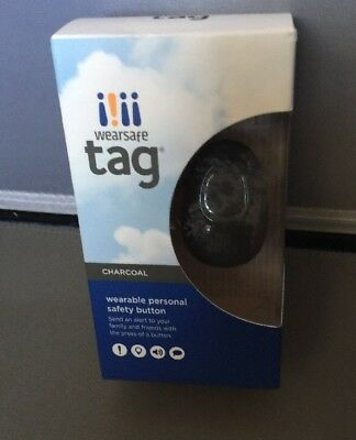 NEW Wearsafe - Wearsafe Tag Personal Safety Device- Charcoal