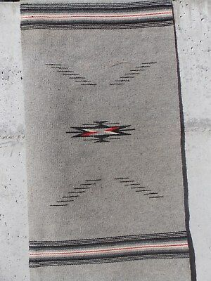 Vintage,chimayo,ortegas Wool Blanket,wall Covering,19 In.x40 In. Excellent