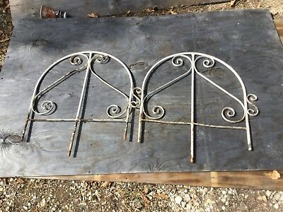 Rare Antique Matching 15 Wrought Iron Fence Panels 30' Total 2' Tall