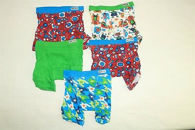 LOT OF 5 FRUIT OF THE LOOM Boys Boxer Briefs Underwear Assorted Prints 2T-3T
