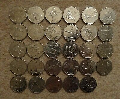 London Olympic 50p Fifty pence Triathlon Judo Football etc - Free Postage.