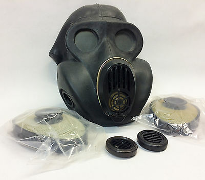 Soviet Black gas mask PBF EO-19 size 4 EXTRA LARGE
