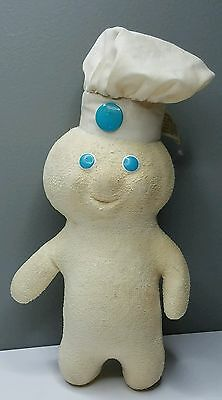 "PILLSBURY DOUGHBOY Terry Cloth Soft Squeezable 12"" Doll TRUE VINTAGE 1972"