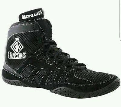 Grapple Kings Mma Wrestling Shoes Trainers Boots With Strap An Laces Size 8