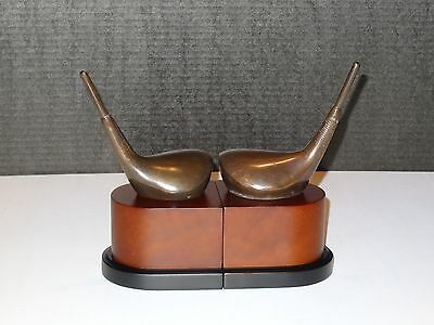 Decorative Crafts Hand Crafted Golf Club Bookends From Borsheim's