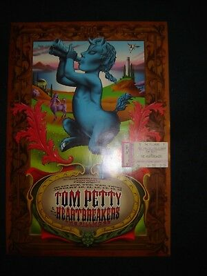 Tom Petty  Poster Fillmore  +Concert Ticket Stub 1/10/97