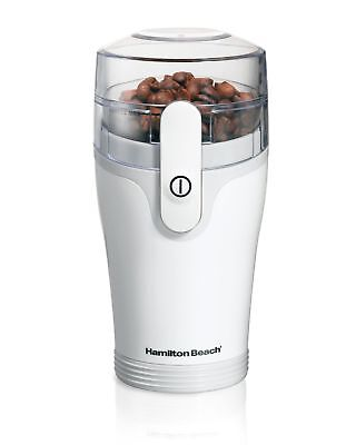 Hamilton Beach Coffee Grinder with Removable Chamber White New