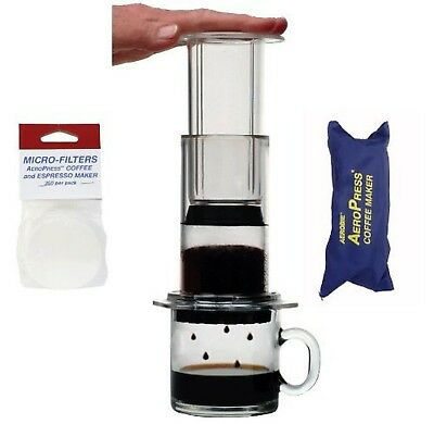 AeroPress Coffee and Espresso Maker with zippered nylon tote bag and an E... New