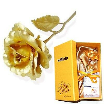 KDLINKS 24K 6 Inch Gold Foil Rose Best Valentine's Day Gift Handcrafted a... New