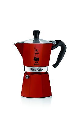 Bialetti 6905 6 Cup Moka Express Red 6-Cup New