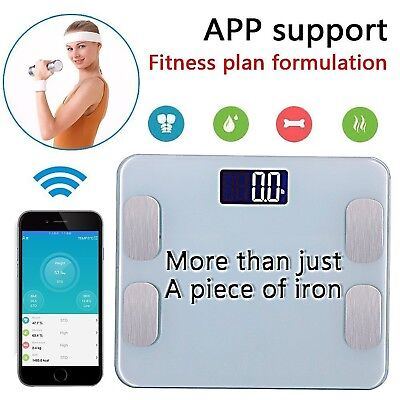 ASYOU Bluetooth ScaleSmart Body Scale Bathroom Scale Wireless Body Fat Sc... New