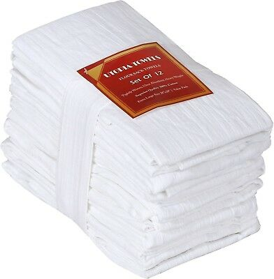 Flour-Sack-Towels ( 12 Pack - 28 x 28 Inch ) Pure Cotton Dish-Cloth Kitch... New