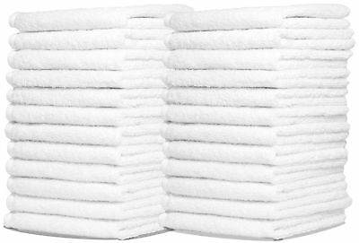 Wash Cloth Towels by Royal 24-Pack 100% Natural Cotton 12 x 12 Commercial... New