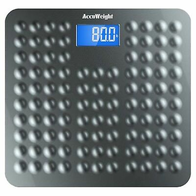 "Accuweight Anti-skid Digital Bathroom Body Weight Scale with 3.6"" Backlig... New"