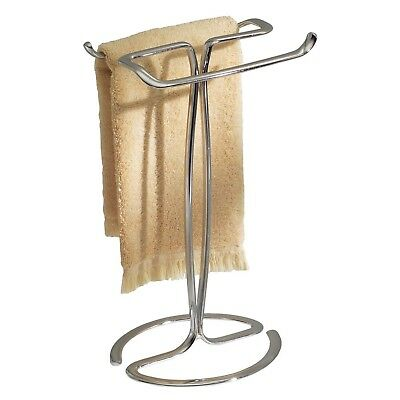 InterDesign Axis Towel Holder for Bathroom Vanities - Chrome New