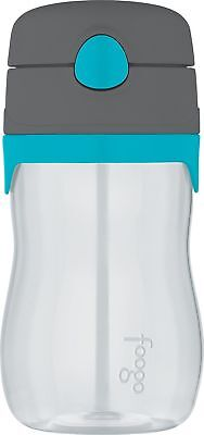 THERMOS FOOGO 11-Ounce Straw Bottle Charcoal/Teal New