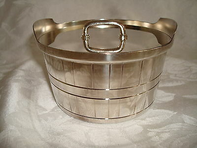 Gorham Silver Barrel Bucket With Cover