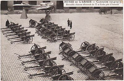 Rare Original 1914-1915 Musee De L'armee French Postcard Ensemble German Cannons