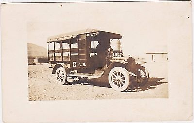 Rare Wwi Us Army Ambulance Real Photo Postcard Sent To Pvt Percy C Brown In 1917
