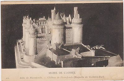 RARE ORIGINAL ca1917 MUSEE DE L'ARMEE FRENCH POSTCARD CHATEAU DE PIERREFONDS WOW