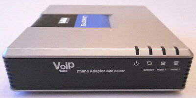 2 sets Cisco/Linksys SPA2102 VoIP Phone Adapter Router 2FXS