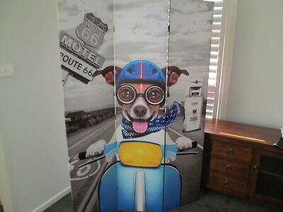 Usa Route 66 Dog Motorcycle Scooter Room Divider Pet Hospital Daycare Grooming