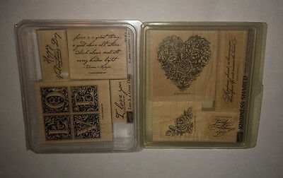 Rubber Stamps Stampin up Valentines Lot of 8