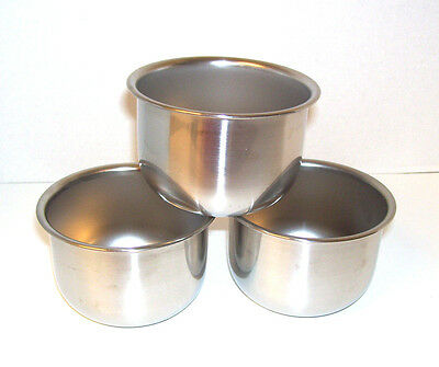 Lot of 3 Stainless Steel Serving Bowls Measuring Cups 12 oz / 1.5 Cup