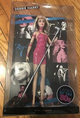DEBBIE HARRY Blondie Ladies Of The 80s Barbie Collectors Pink Label Doll