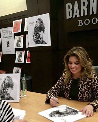 "Shania Twain Now Lp 12"" Album Cover Hand Signed Autograph Signing Proof"